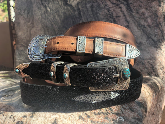 Ranger Buckle Set in Sterling Silver