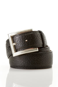 Chacon Bison Straight Belt in Chocolate