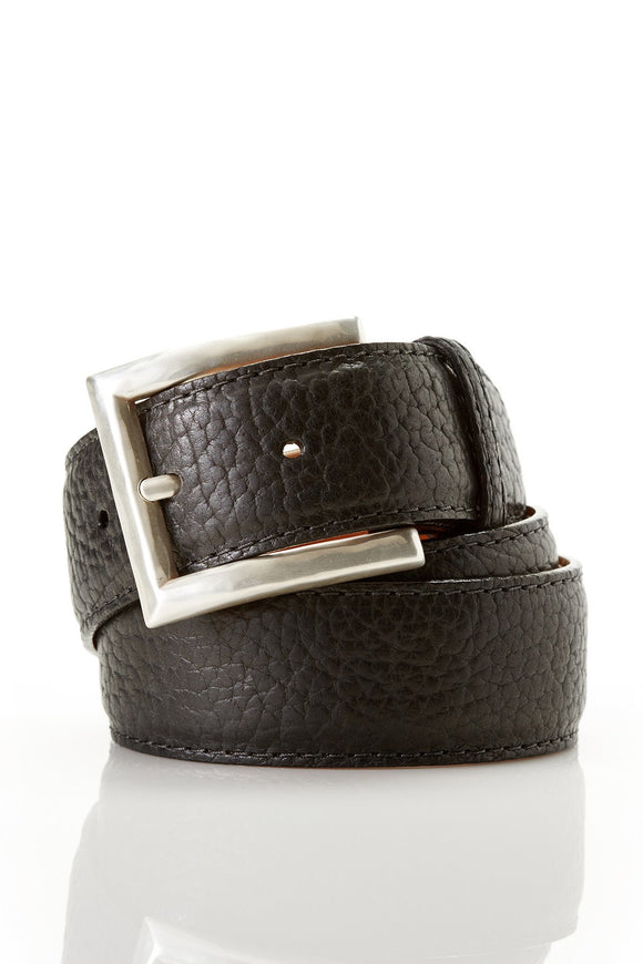 Chacon Bison Straight Belt in Black