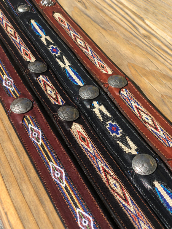 George Jackson Woven Inlay Straight Belt