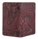 Oberon Cloud Dragon Checkbook Cover in Wine