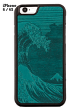Oberon Hokusai Wave iPhone Case in Teal