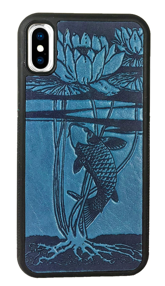 Oberon Water Lily Koi iPhone Case in Sky Blue