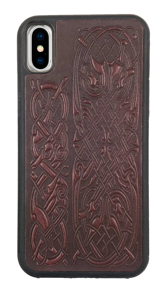 Oberon Celtic Hounds iPhone Case in Wine