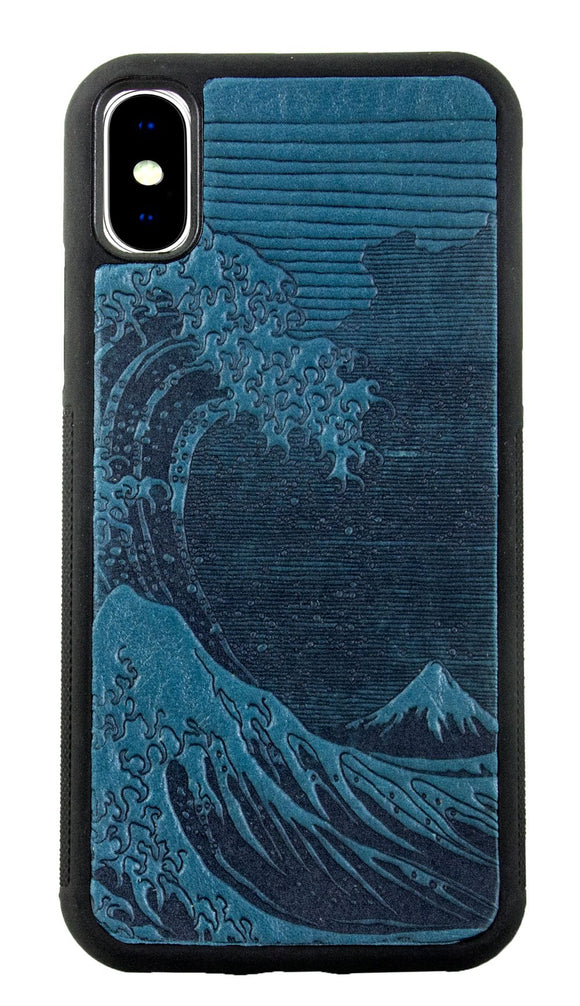 Oberon Hokusai Wave iPhone Case in Sky Blue