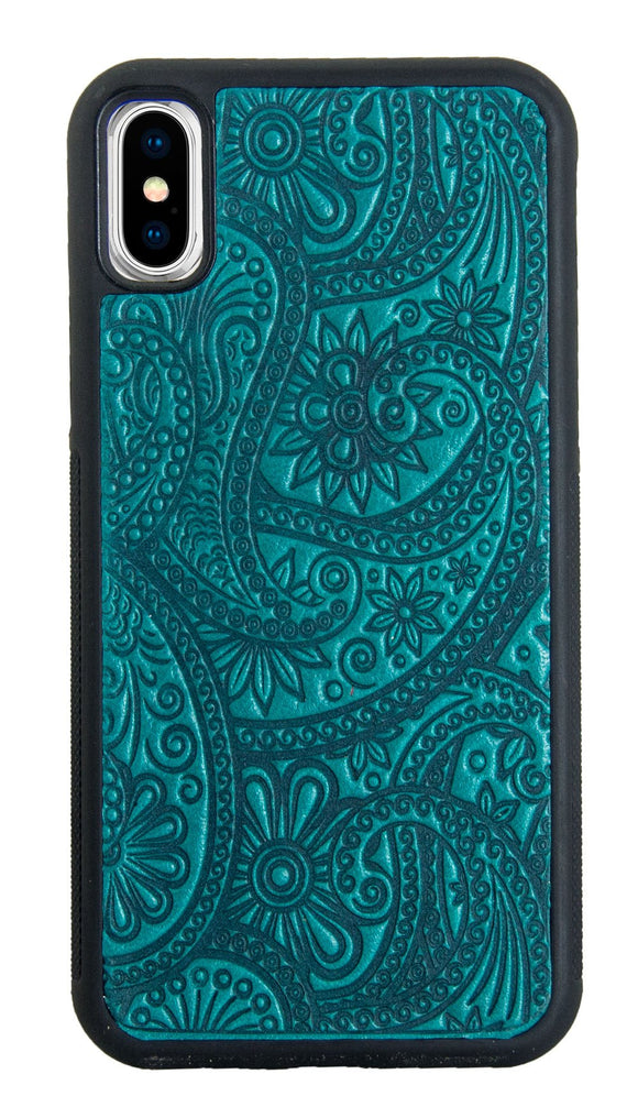 Oberon Paisley iPhone Case in Teal