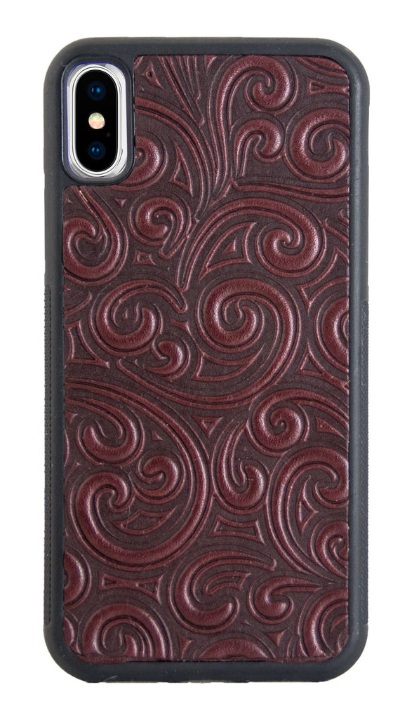 Oberon Rococo iPhone Case in Wine