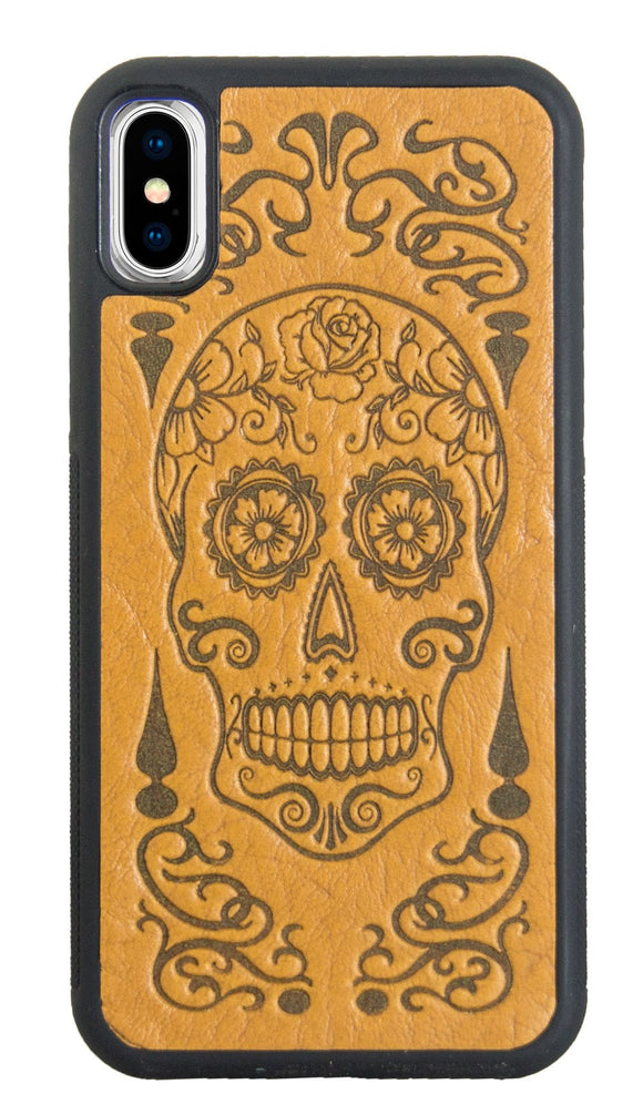 Oberon Sugar Skull iPhone Case in Marigold
