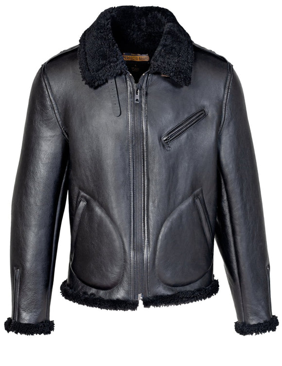 Men's Genuine Sheepskin Biker Jacket