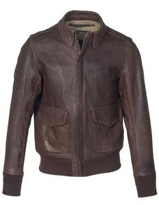 Men's Waxy Oiled Lambskin A-2 Bomber Jacket