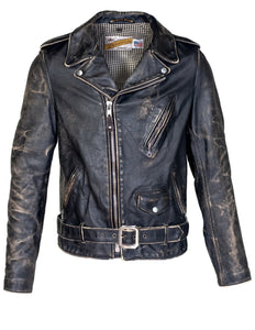 Men's Vintaged Fitted Motorcycle Jacket