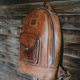 Coronado Leather Vintage Stone-Washed Backpack #115