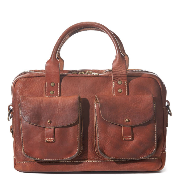 Coronado Leather Vintage Stone-Washed Briefcase #100