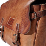 Coronado Leather Vintage Stone-Washed Saddle Bag #130