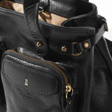 Coronado Leather Santa Fe Satchel in Black