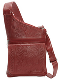 Ropin West Crossbody Organizer Bag in Red