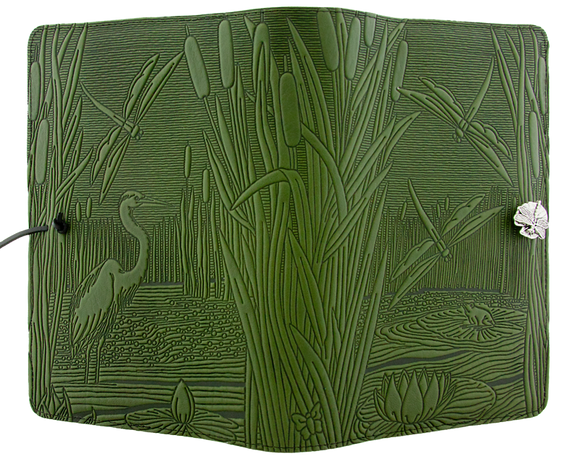 Oberon Dragonfly Pond Refillable Journal in Fern