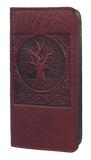 Oberon World Tree Checkbook Cover in Wine
