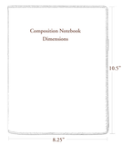 Oberon Roof of Heaven Composition Notebook Dimensions