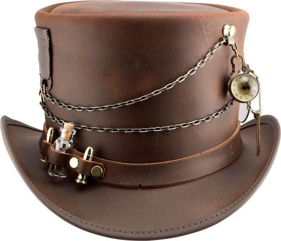 Head'n Home Trinket Leather Steampunk Top Hat