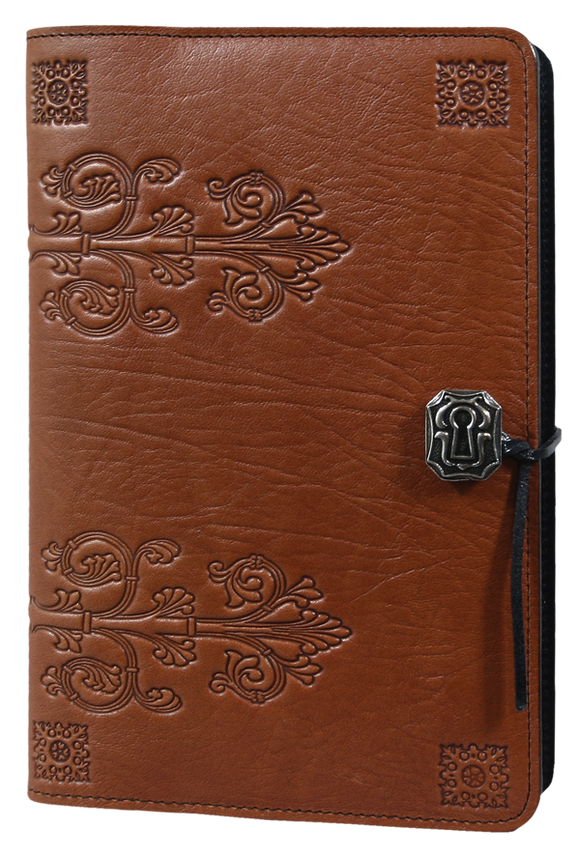 Oberon da Vinci Refillable Journal Cover in Saddle