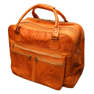 Ropin West Multi Pocket Carry On in Brown