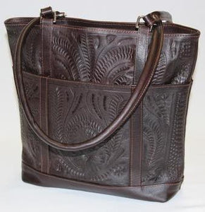 Ropin West Square Zip Closure Tote in Brown