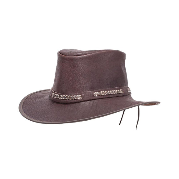 Head'n Home Hat Bison Leather Outback Hat