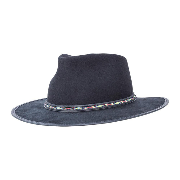 Head'n Home Hat Bushwick felt hat in Black
