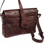 Ropin West Zipper Messenger Bag in Brown