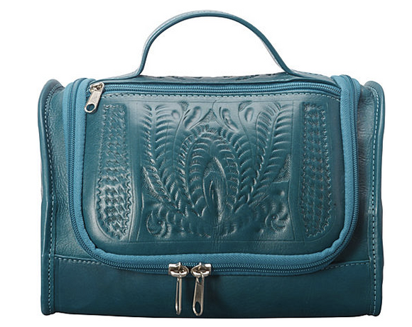 Ropin West Hanging Vanity Case in Turquoise