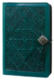 Oberon Celtic Diamond Refillable Journal Cover in Teal