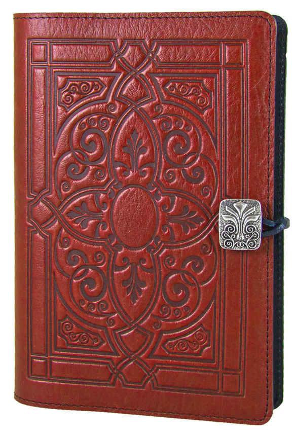 Oberon Florentine Refillable Journal Cover in Red