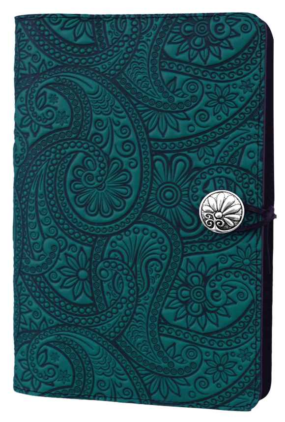 Oberon Paisley Refillable Journal Cover in Teal