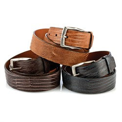 Chacon Lizard Straight Belts