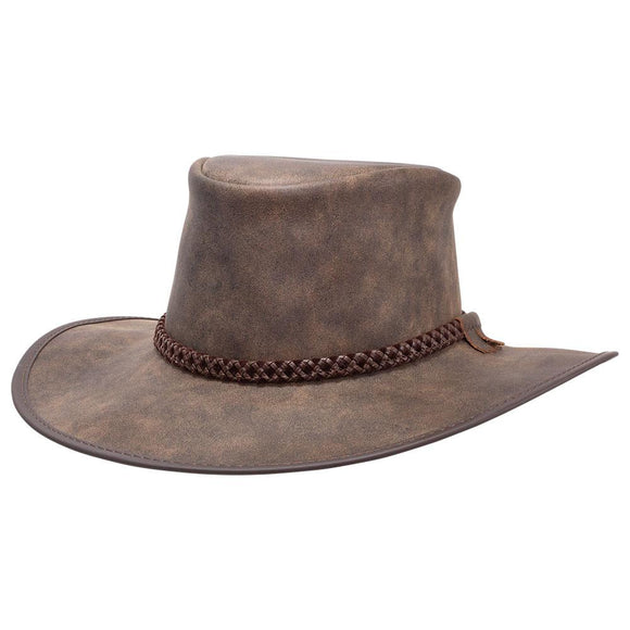Head'n Home Hat Crusher Outback Hat in Bomber Brown