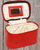 Ropin West Tooled Leather Vanity Case in Red