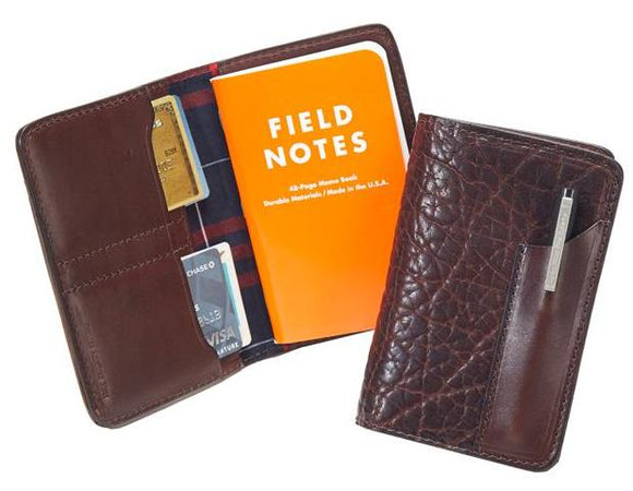 Coronado Leather Bison Note Cover #628 in Walnut