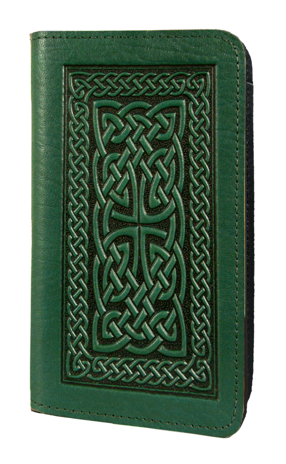 Oberon Celtic Braid Smartphone Wallet in Green