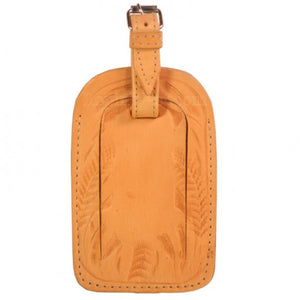 Ropin West Tooled Leather Luggage Tag in all colors
