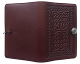 Oberon Celtic Braid Refillable Journal Cover in Wine