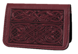 Oberon Celtic Hounds Card Holder in Wine