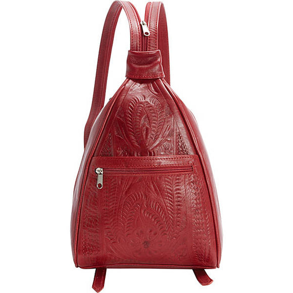 Ropin West Sling Backpack Purse in Red