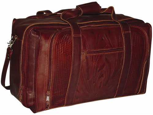 Ropin West Three Compartment Carry On in Brown