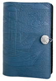 Oberon Van Gogh Boats Refillable Journal Cover in Sky Blue