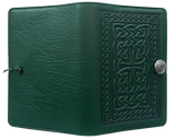 Oberon Celtic Braid Refillable Journal Cover in Green