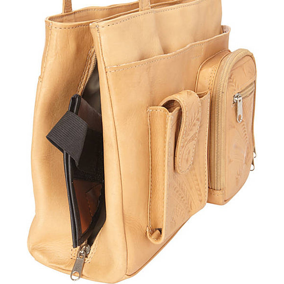 Ropin West 2 Pocket Concealed Carry Bag in Natural