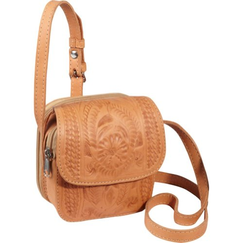 Ropin West Single Compartment Zip Organizer Purse in Natural