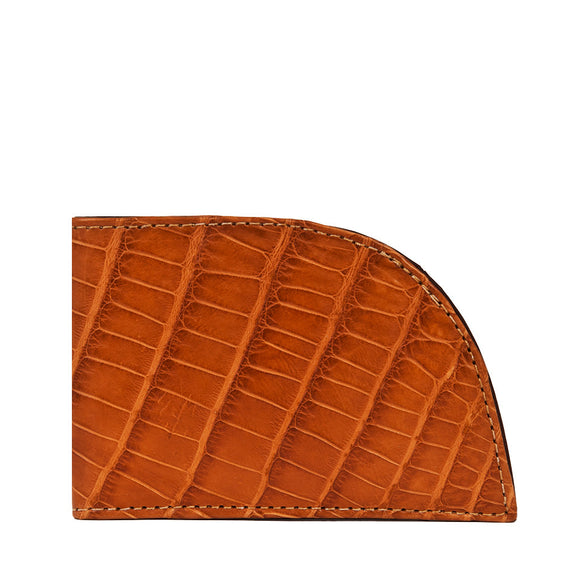 Rogue Industries Alligator Front Pocket Wallet in Cognac