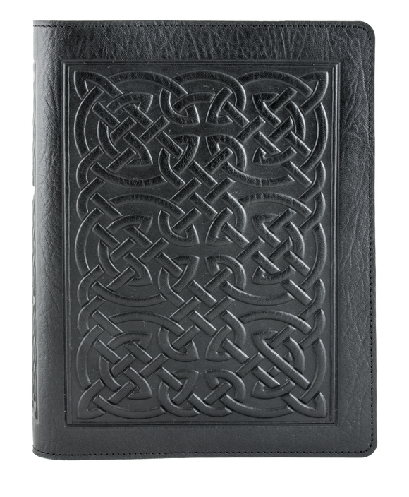 Oberon Bold Celtic Composition Notebook Cover in Black